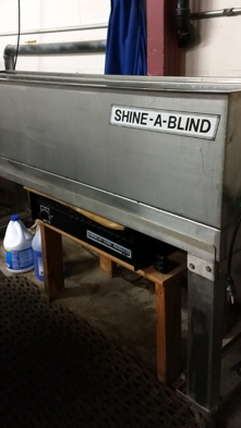 shine a blind machine